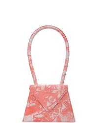 Cartable en cuir imprimé tie-dye rose Amélie Pichard