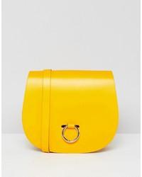 Cartable en cuir jaune Leather Satchel Company