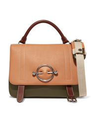 Cartable en cuir marron clair JW Anderson