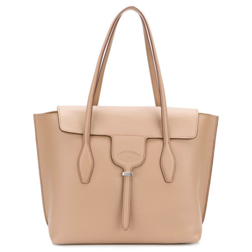 Cartable en cuir marron clair Tod's