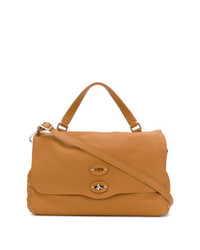 Cartable en cuir marron clair Zanellato