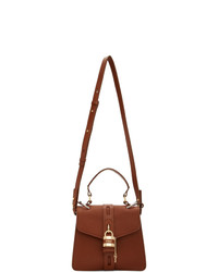 Cartable en cuir marron Chloé