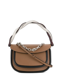 Cartable en cuir marron Marni