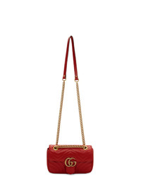 Cartable en cuir matelassé rouge Gucci