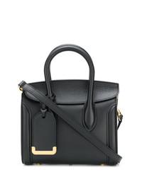Cartable en cuir noir Alexander McQueen
