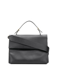 Cartable en cuir noir Calvin Klein