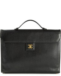 Cartable en cuir noir Chanel