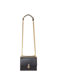 Cartable en cuir noir Fendi