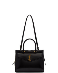 Cartable en cuir noir Saint Laurent