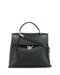 Cartable en cuir noir Salvatore Ferragamo