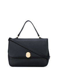 Cartable en cuir noir Tila March