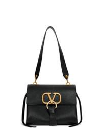 Cartable en cuir noir Valentino