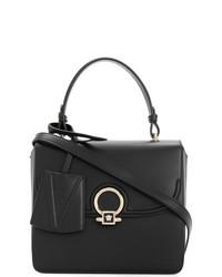 Cartable en cuir noir Versace