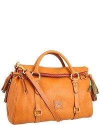 Cartable en cuir orange