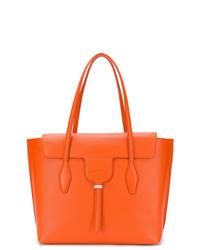 Cartable en cuir orange Tod's