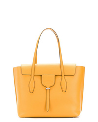 Cartable en cuir orange Tod's