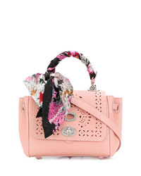 Cartable en cuir orné rose Ermanno Scervino