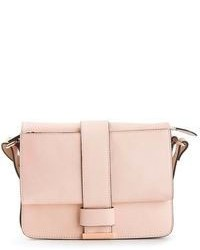 Cartable en cuir rose