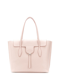 Cartable en cuir rose Tod's