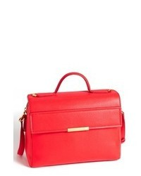 Cartable en cuir rouge