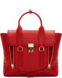 Cartable en cuir rouge 3.1 Phillip Lim