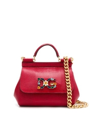 Cartable en cuir rouge Dolce & Gabbana