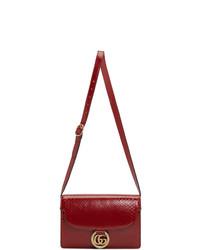 Cartable en cuir rouge Gucci