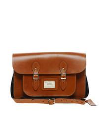 Cartable en cuir tabac Leather Satchel Company