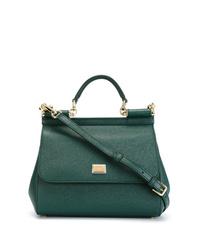 Cartable en cuir vert foncé Dolce & Gabbana