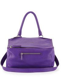 Cartable en cuir violet