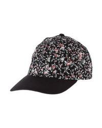 Casquette à fleurs noire Even&Odd