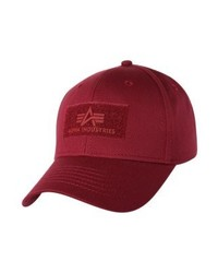 Casquette bordeaux Alpha Industries
