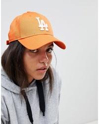 Casquette brodée orange New Era