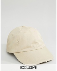 Casquette de base-ball beige Reclaimed Vintage