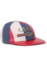Casquette de base-ball blanc et rouge et bleu marine Gucci