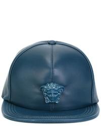 Casquette de base-ball bleu canard Versace