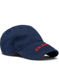 Casquette de base-ball bleu marine Balenciaga
