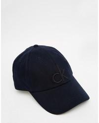 Casquette de base-ball bleu marine Calvin Klein