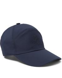 Casquette de base-ball bleu marine Loro Piana