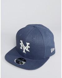 Casquette de base-ball bleue New Era