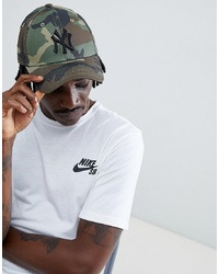 Casquette de base-ball camouflage olive New Era