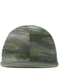 Casquette de base-ball camouflage vert foncé A.P.C.