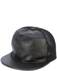 Casquette de base-ball en cuir à étoiles noire Givenchy