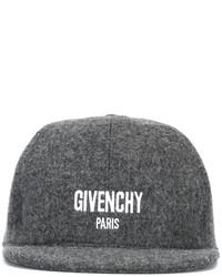Casquette de base-ball gris foncé Givenchy