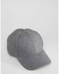 Casquette de base-ball gris Selected