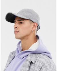 Casquette de base-ball grise ASOS WHITE