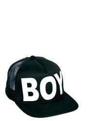 Casquette de base-ball imprimé noir Boy London