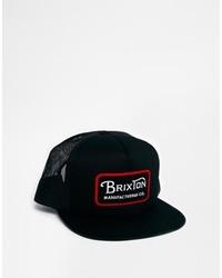 Casquette de base-ball imprimé noir Brixton