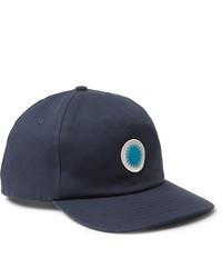 Casquette de base-ball imprimée bleu marine Mollusk