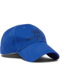 Casquette de base-ball imprimée bleue Balenciaga